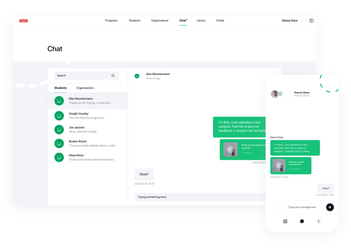 Chat live with your clients for the perfect follow up.